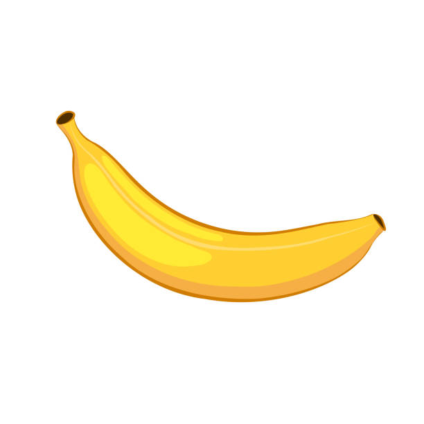 Banana. Isolated object on a white background. Cartoon icon. Banana. Isolated object on a white background. Cartoon icon. banana stock illustrations