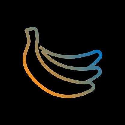Banana Line Icon, Outline Vector Symbol