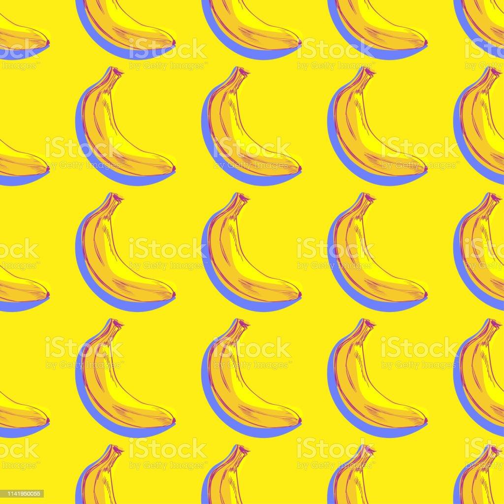 バナナパターンシームレス壁紙の背景テキスタイルプリントパターン
