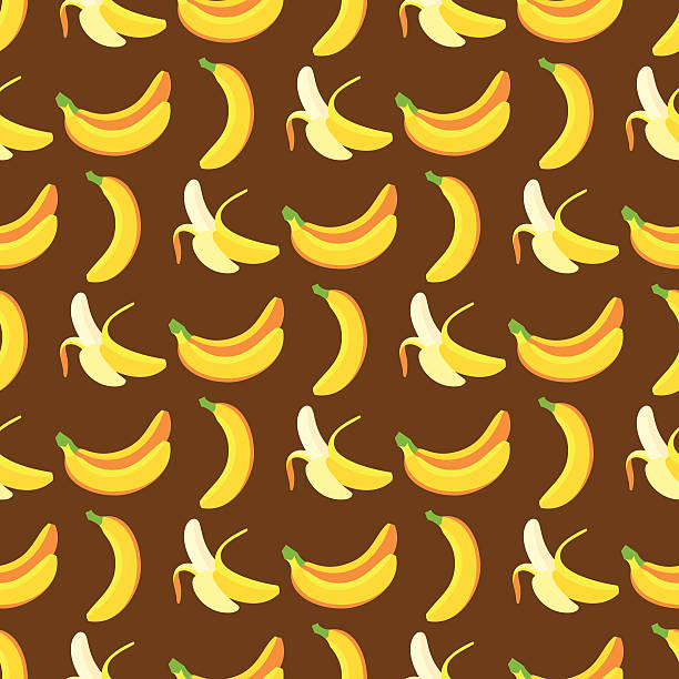 Banana Pattern vector art illustration