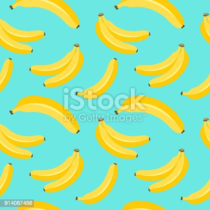 Banana pattern. Seamless background vector illustration