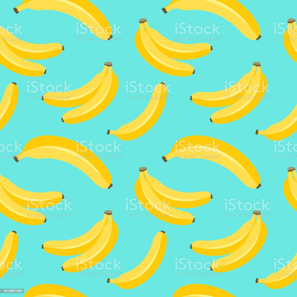 Banana pattern. vector art illustration