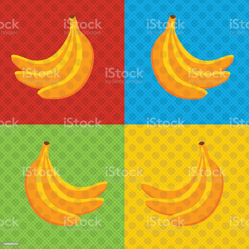 Banana pop art vector art illustration