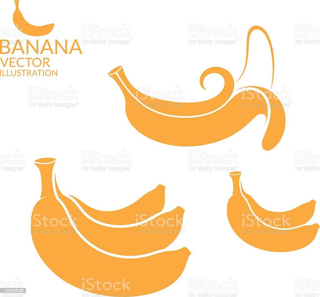 Banana.   Set – Vektorgrafik