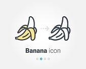 istock Banana vector icon 1129586507