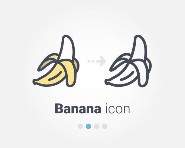 Banana vector icon Banana vector icon banana stock illustrations