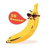 Banana Cartoon character. Editable vector file.