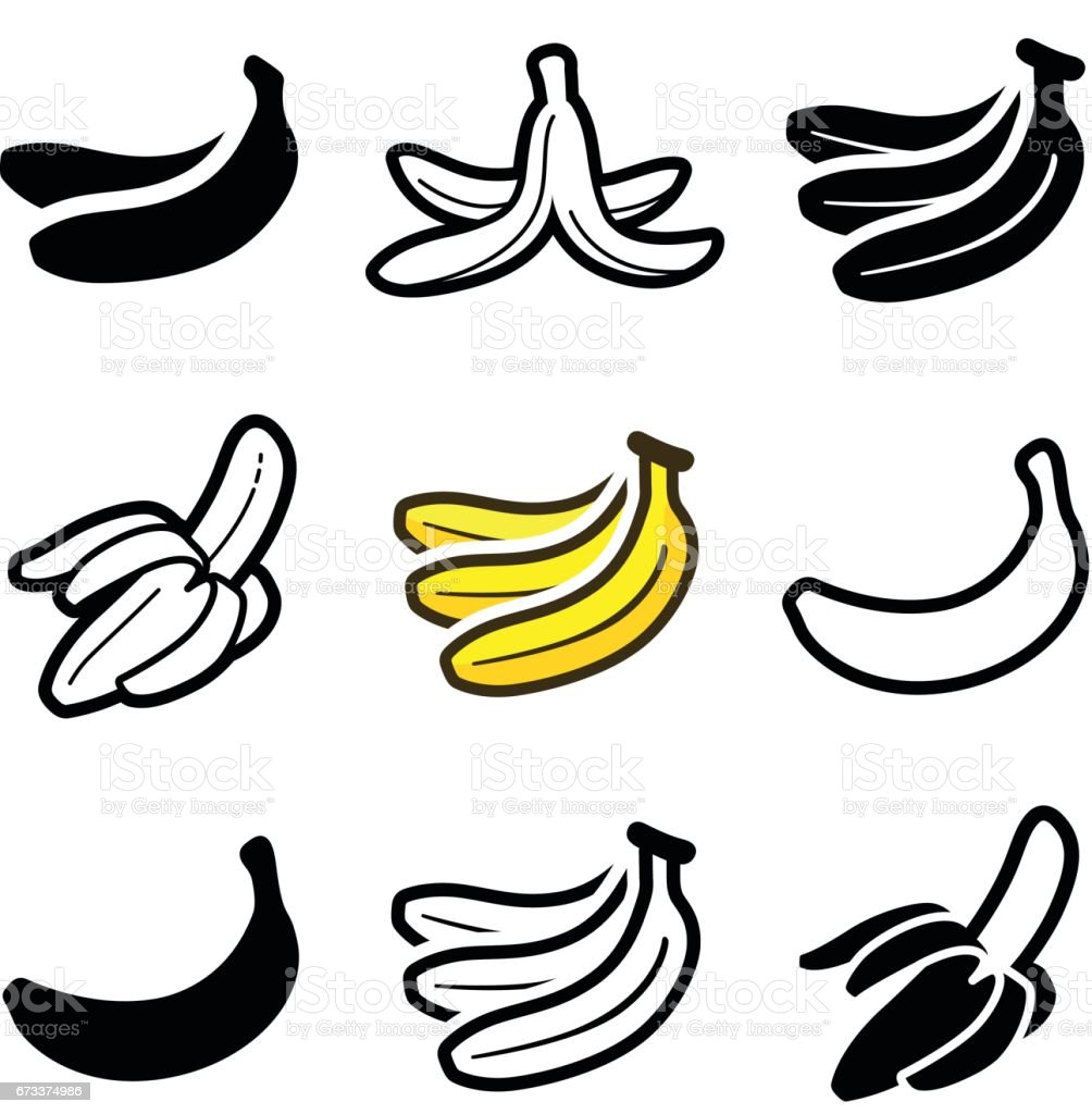 Banana vector art illustration