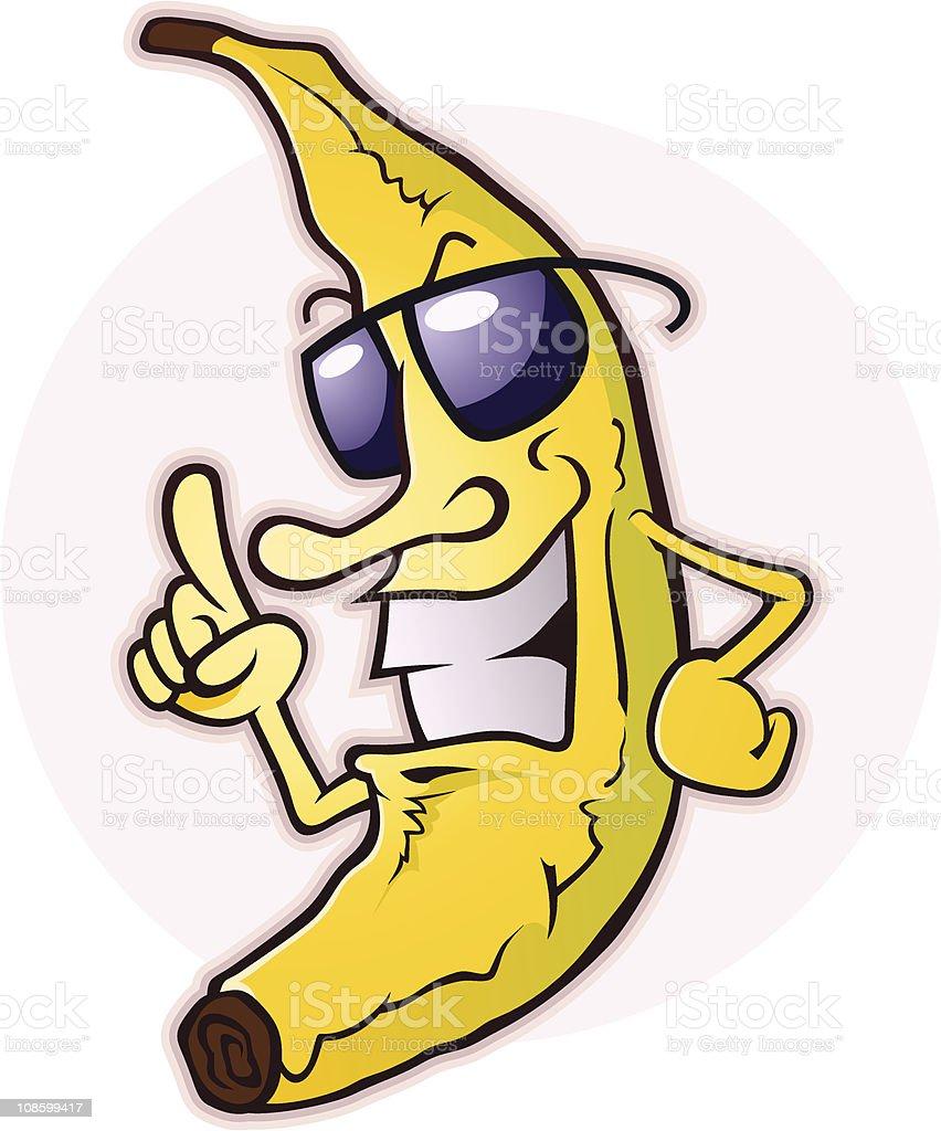 Banana With Attitude vector art illustration