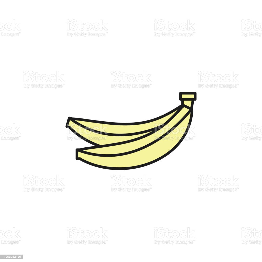 Bananas Colored Outline Icon Element Of Food Icon For Mobile Concept And Web Apps Thin Line Bananas Icon Can Be Used For Web And Mobile Stock Illustration Download Image Now Istock