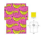 istock Bananas pattern envelope with folding scheme. 1294382487