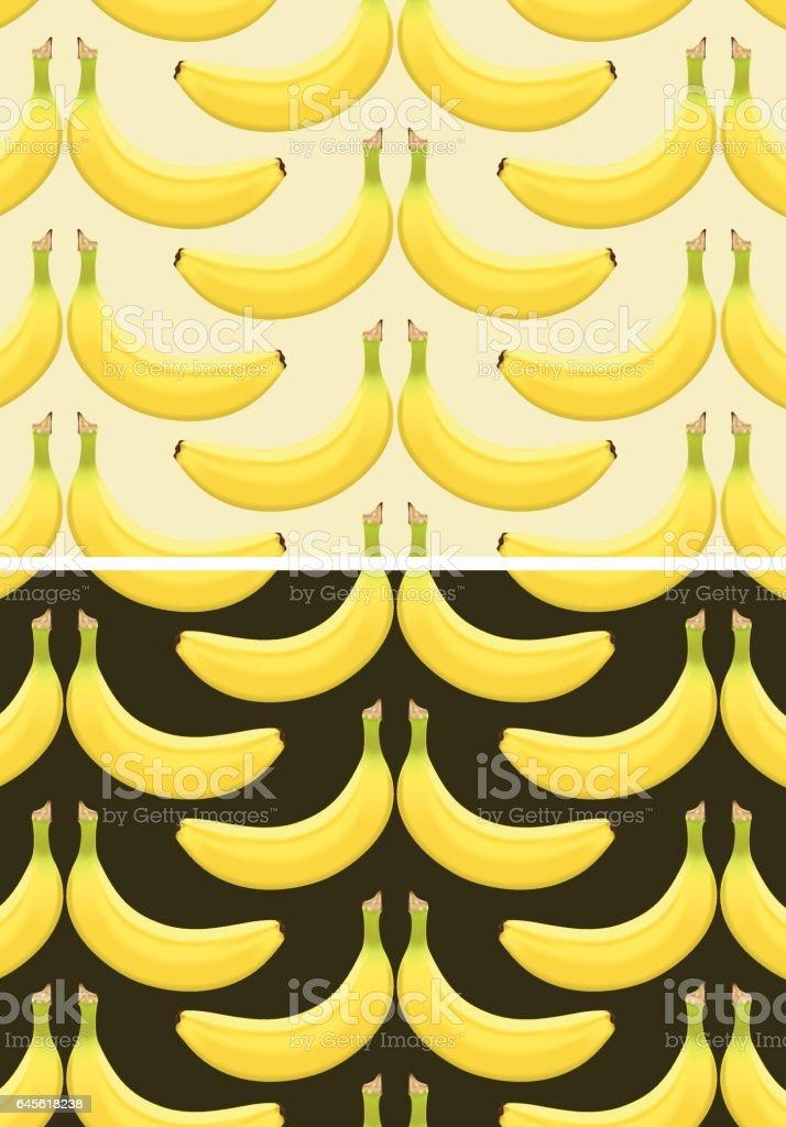 Bananas patttern vector art illustration