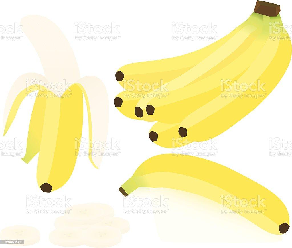 Bananas royalty-free stock vector art