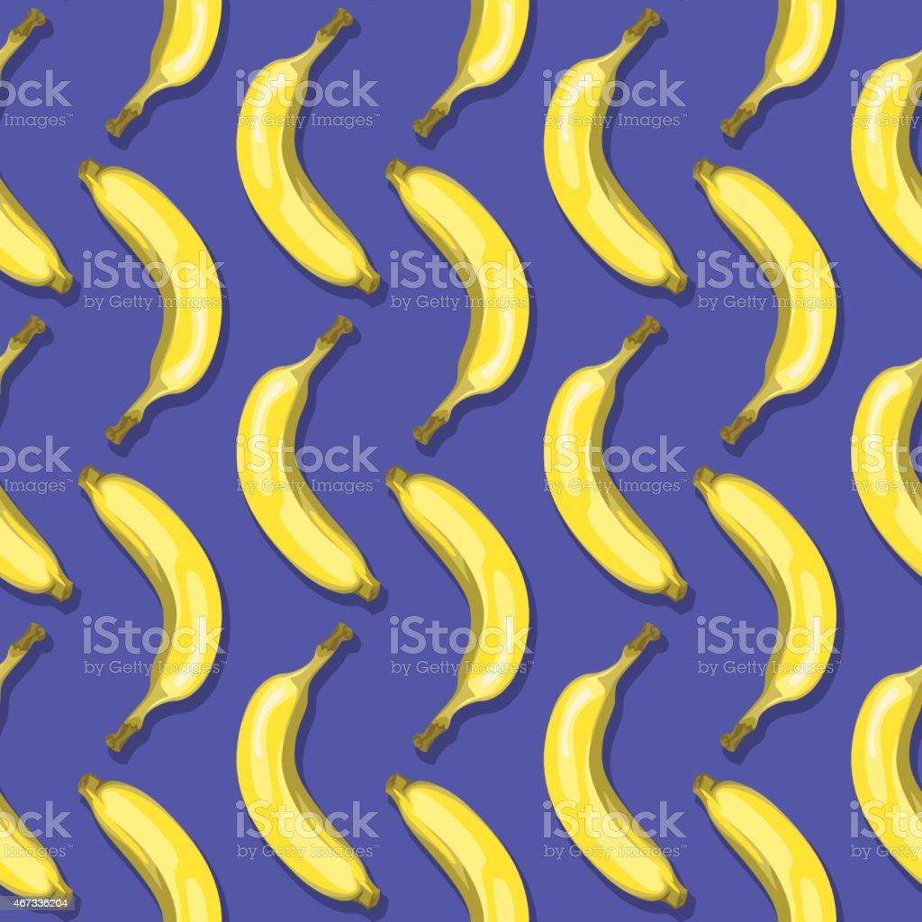 Bananas (Seamless pattern pop art style) vector art illustration
