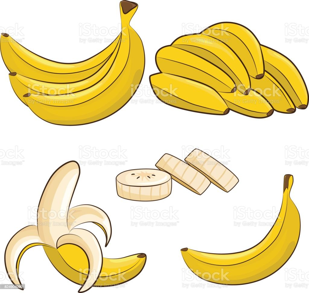 bananas vector art illustration
