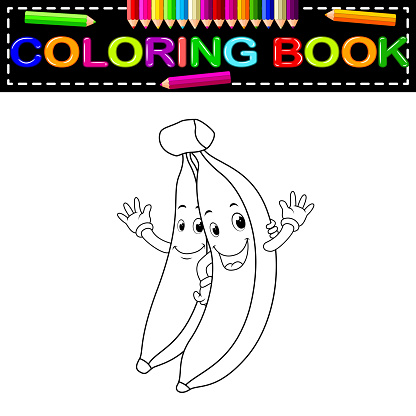 bananas with face coloring book
