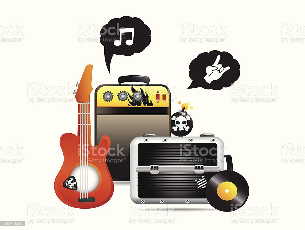 Band and Music Gear vector art illustration