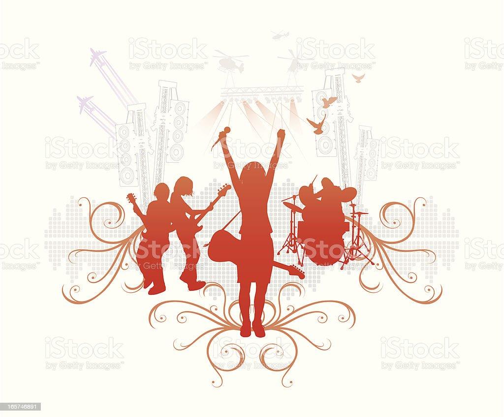 Band in Rot vector art illustration