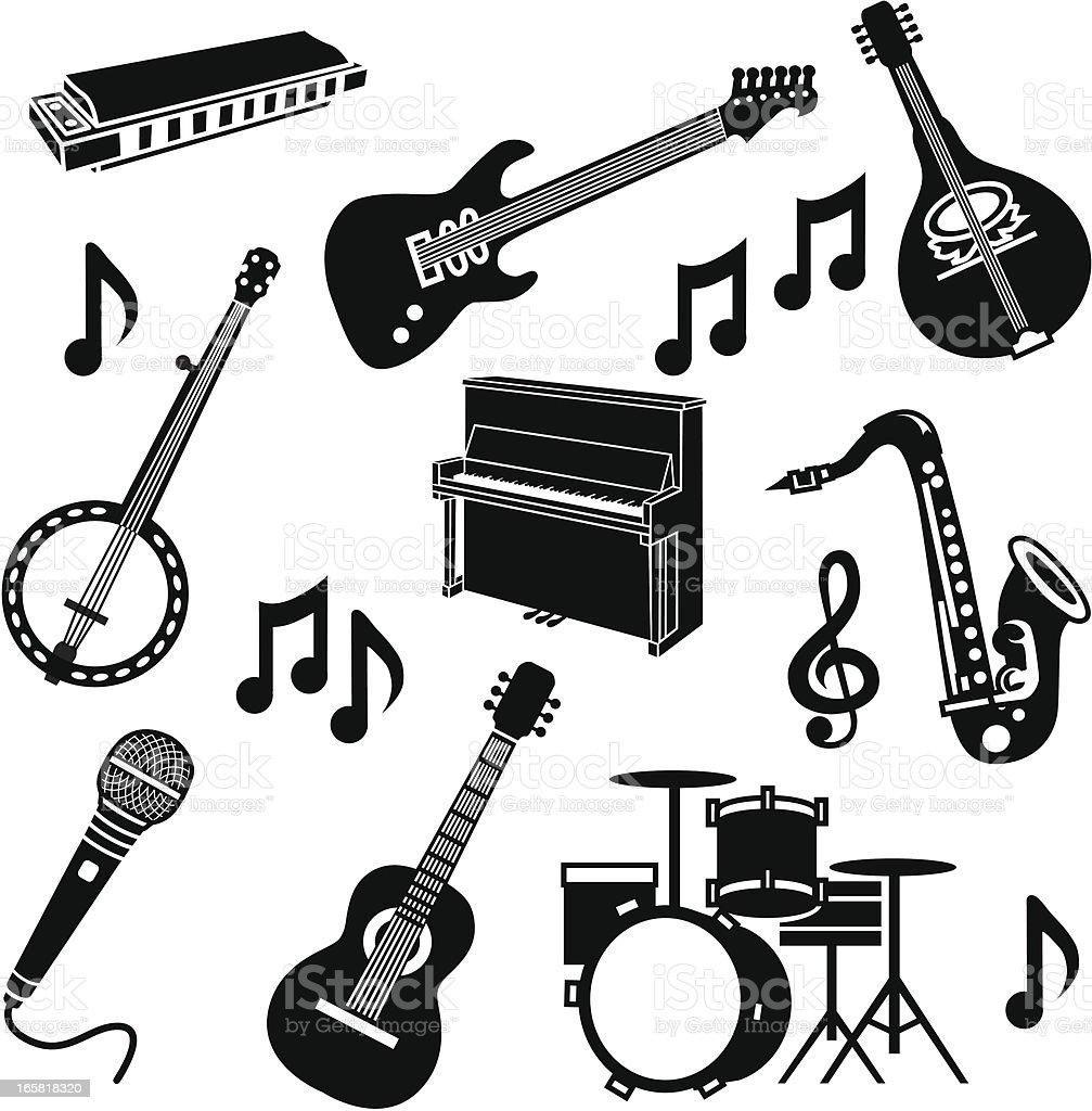 band instruments royalty-free stock vector art