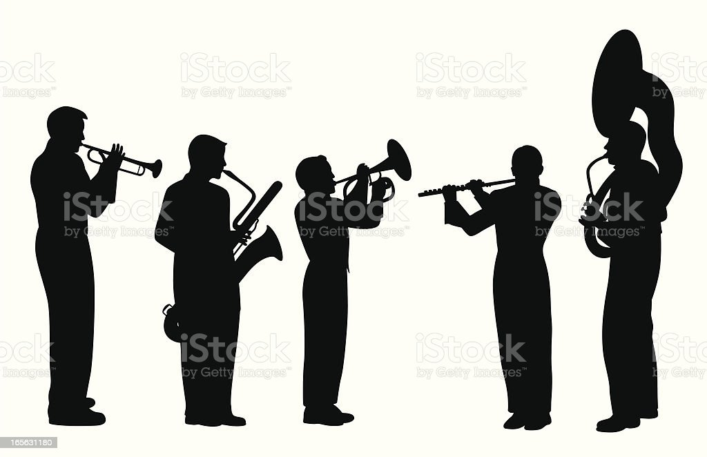 Band Musicians Vector Silhouette royalty-free stock vector art