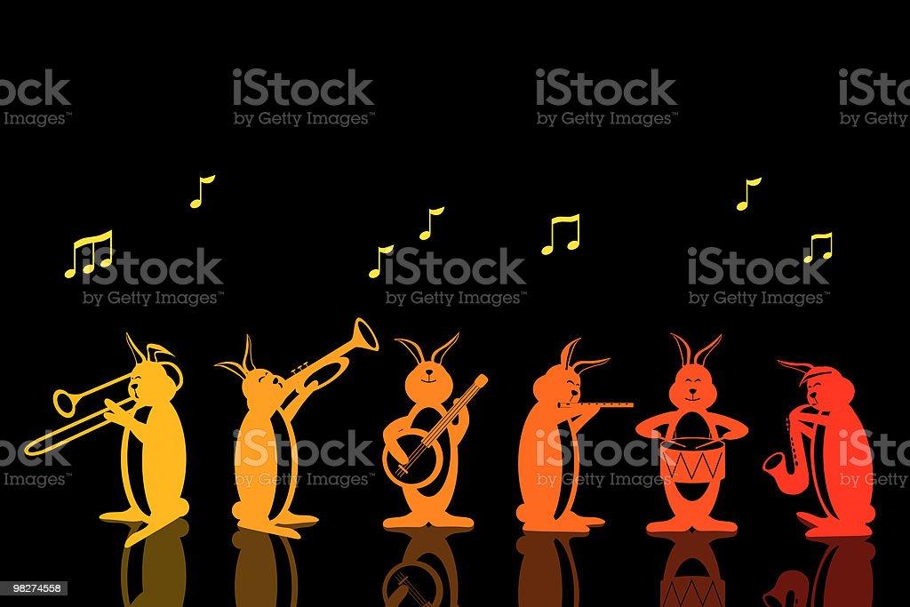 Band of Musical Rabbits royalty-free band of musical rabbits stock vector art & more images of animal
