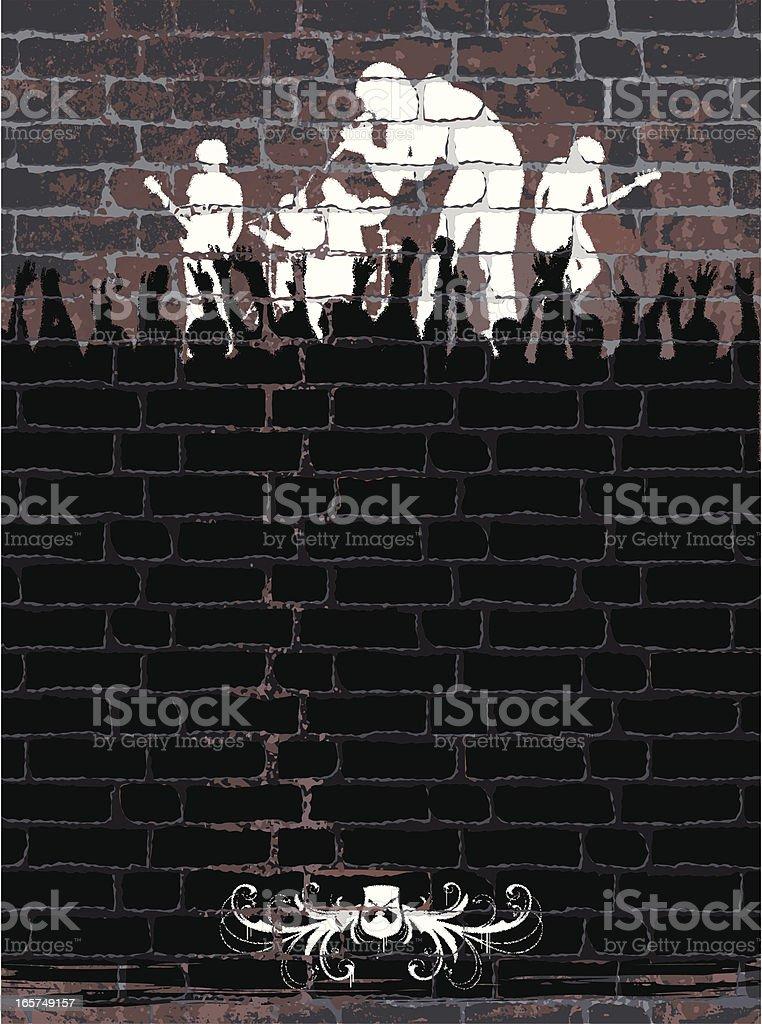 Band on Wall vector art illustration