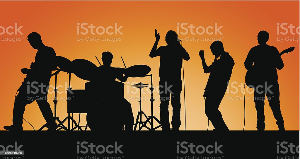 Band Time Baby! vector art illustration