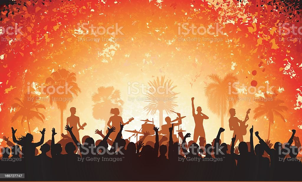 Band vector art illustration