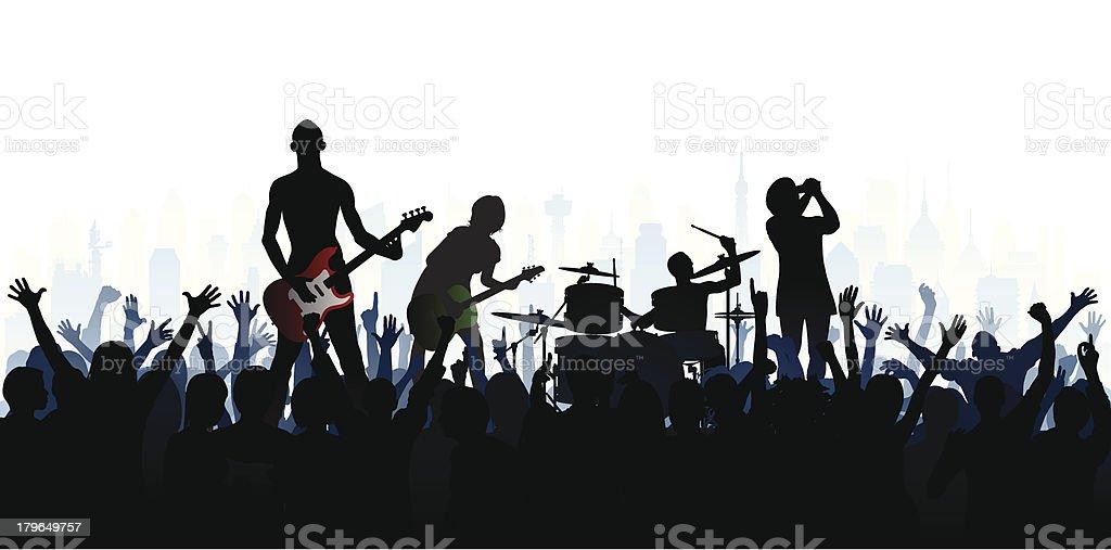 バンド(人が完了したら、クリッピングパスを隠すレッグス) ベクターアートイラスト