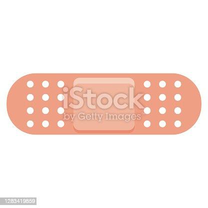 istock Bandage Icon on Transparent Background 1283419859