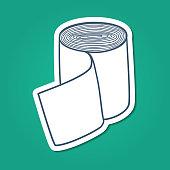 Sketch sticker vector element for medical or health care design