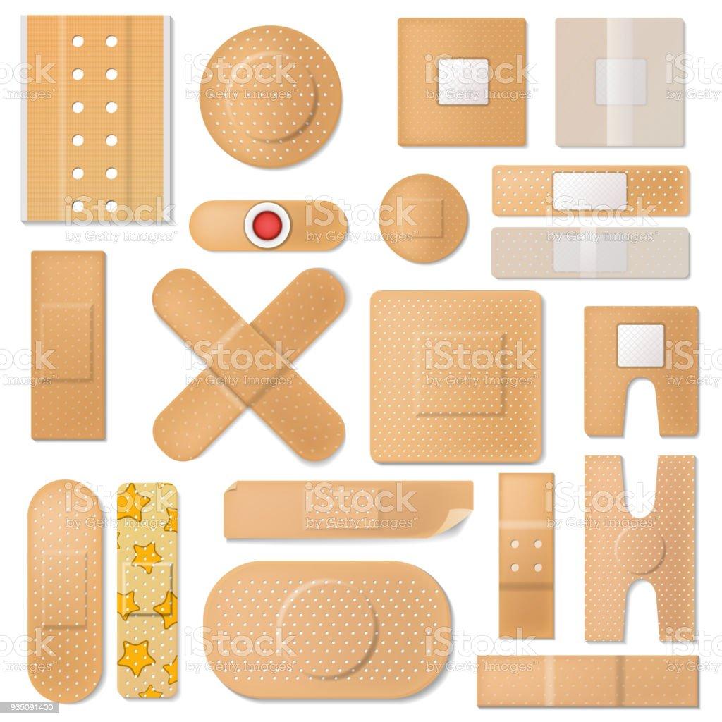 bandage vector bande plâtre et patch de protection médicale pour