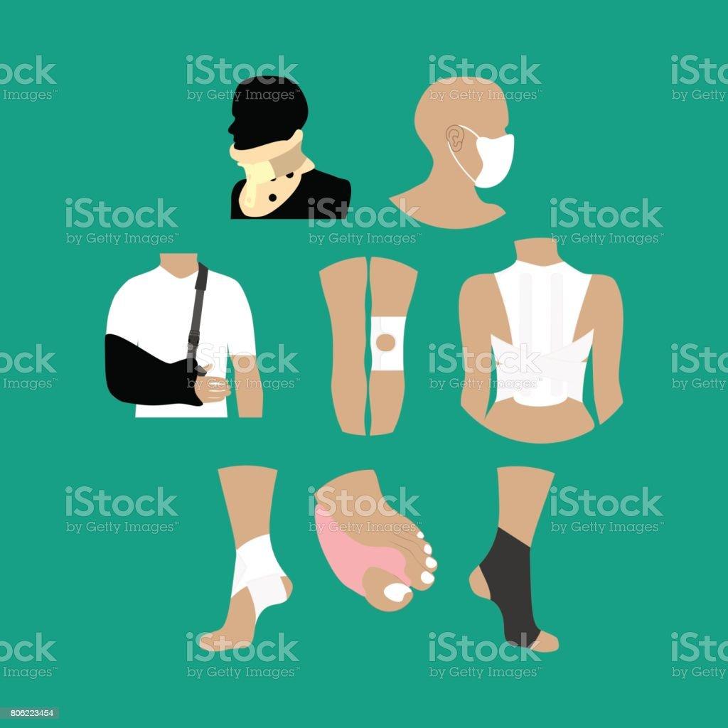 Bandages medicine healthcare vector art illustration