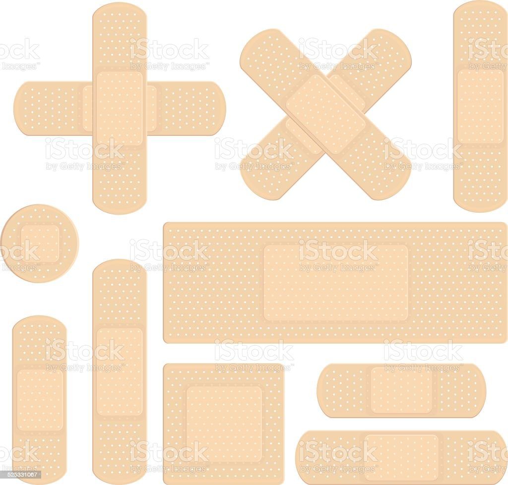 Bandages vector art illustration