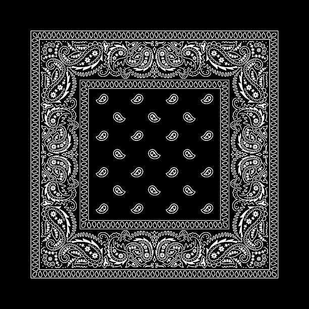 Bandana 2 Black vector art illustration