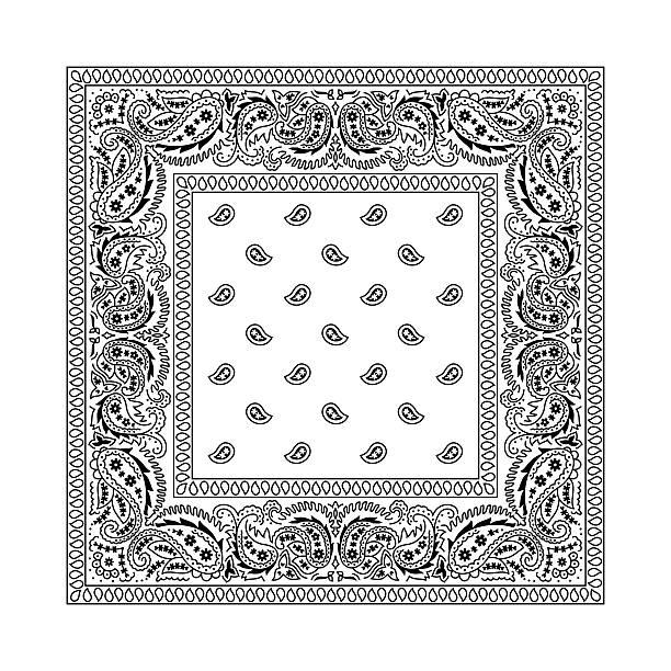 Bandana 2 White vector art illustration