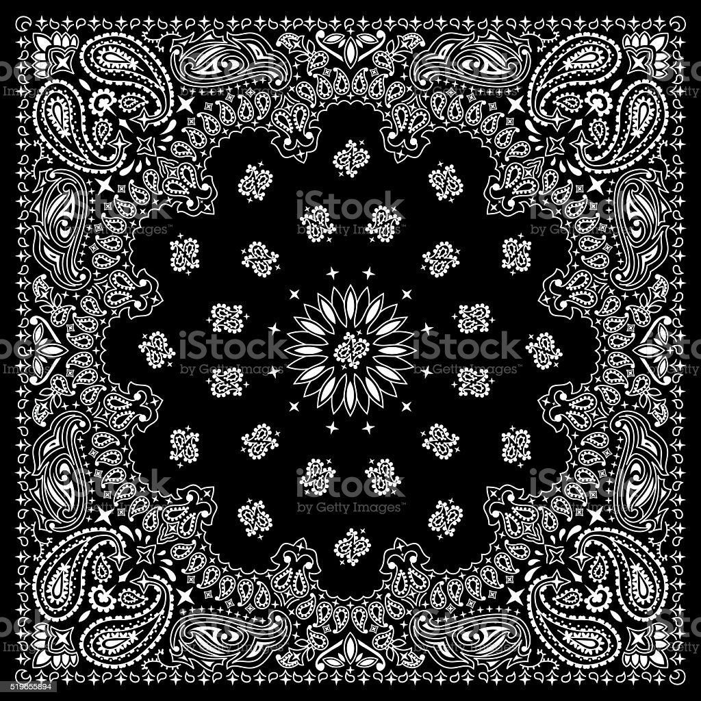 Bandana Black vector art illustration