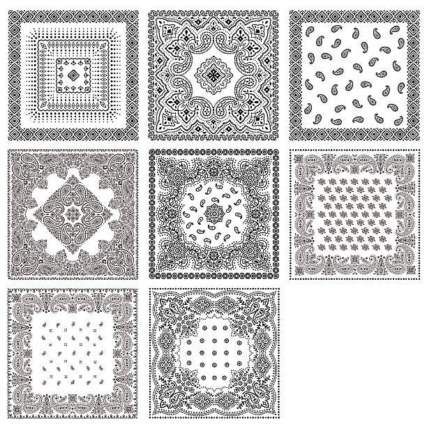 ilustrações de stock, clip art, desenhos animados e ícones de bandana design material - lenço do pescoço