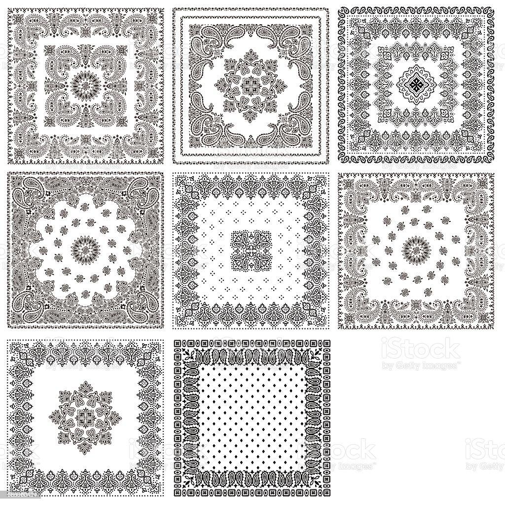 Bandana design material vector art illustration