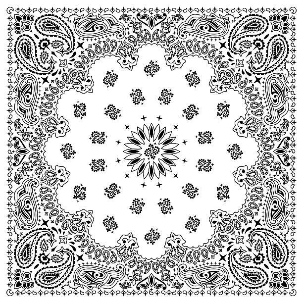 Bandana White vector art illustration