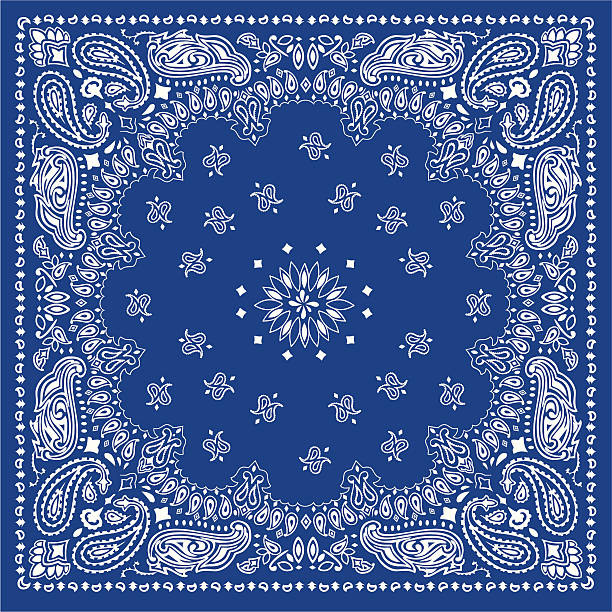 bandanablue blue bandana headscarf stock illustrations