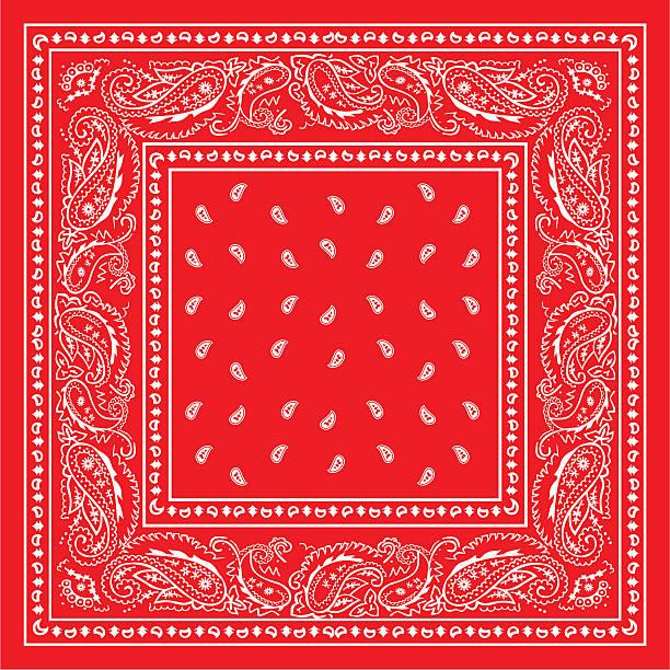 bandanared red bandana headscarf stock illustrations