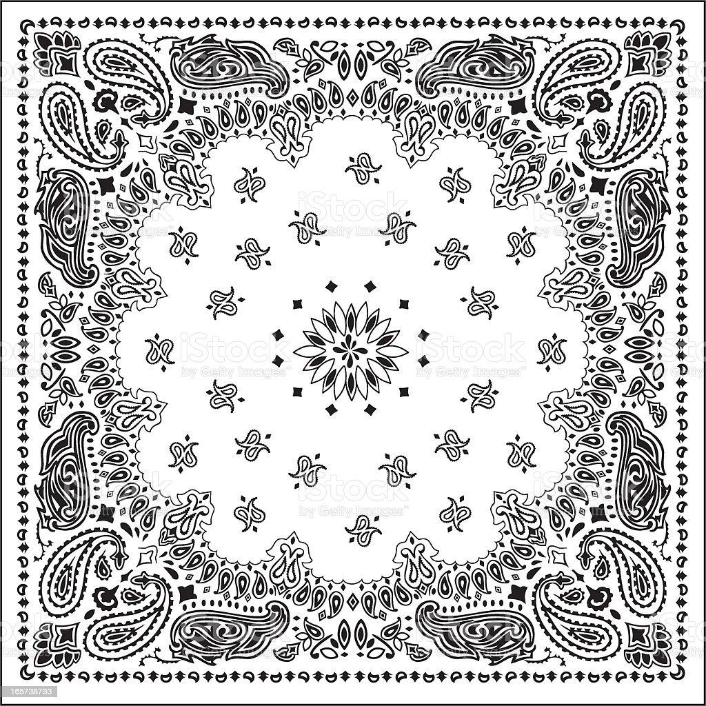 bandanawhite vector art illustration