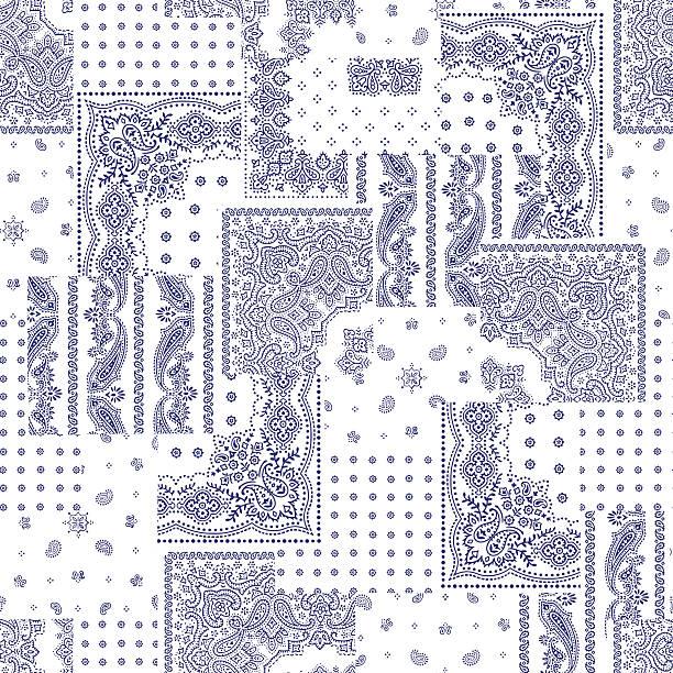 Bandanna design patchwork vector art illustration