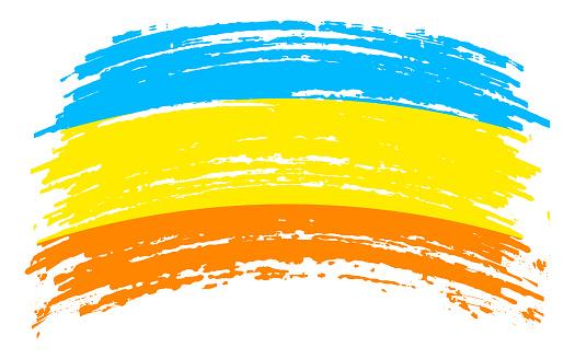 Bandera d'Atlantium flag in grunge brush stroke, vector