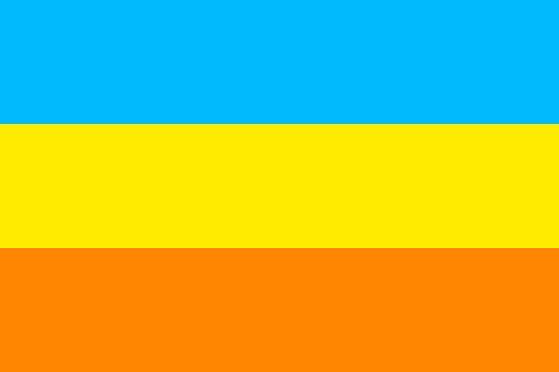 Bandera dAtlantium flag in real proportions and colors, vector