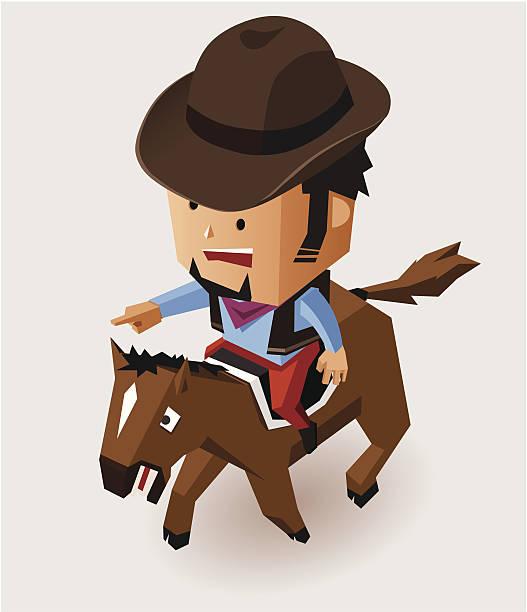 bandit isometric - old man hat stock illustrations, clip art, cartoons, & icons