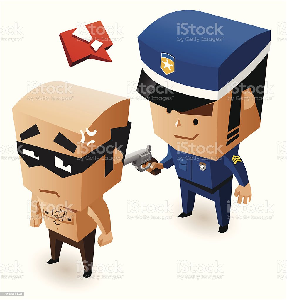 Bandit just got caught royalty-free bandit just got caught stock vector art & more images of adult
