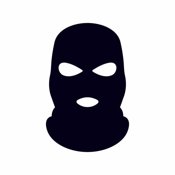 Bandit mask icon Vector icon isolated on white background terrorism stock illustrations