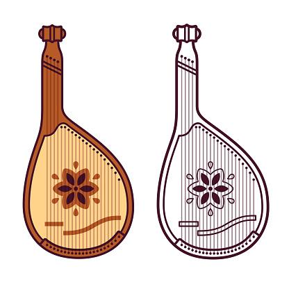 Bandura Ukrainian musical instrument